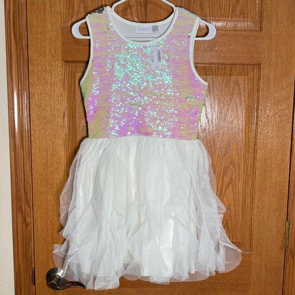 THE CHILDREN'S PLACE Girls XL 14 Flip Sequin Dress